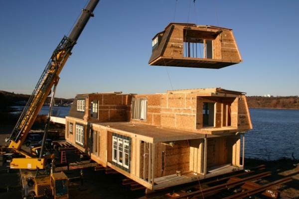 Conctrucción ecolígica en una nueva casa.