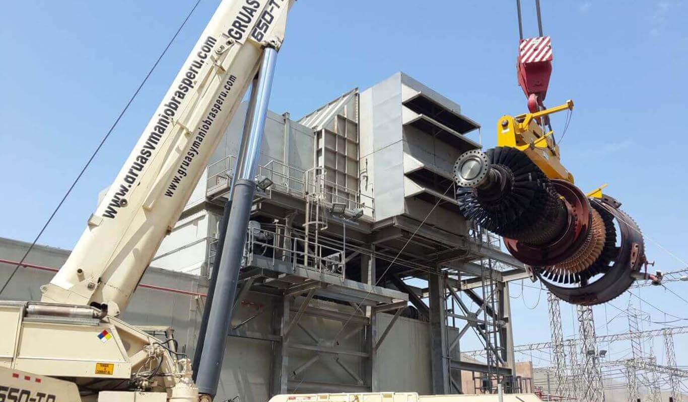Izaje de carga en construcción