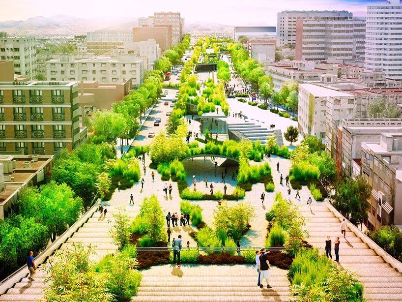 Desarrollo de parques en areas urbanas